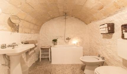 Bagno nella grotta