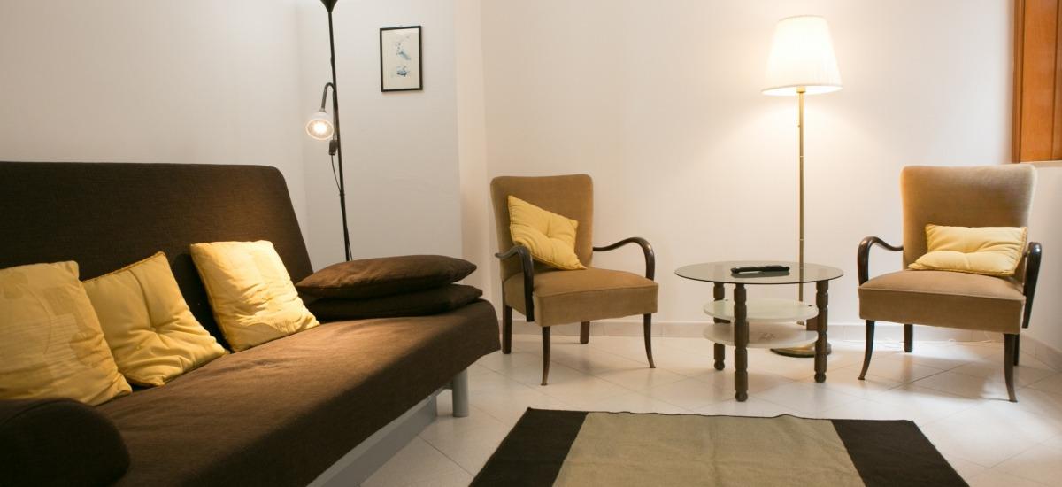 soggiorno con divano-letto