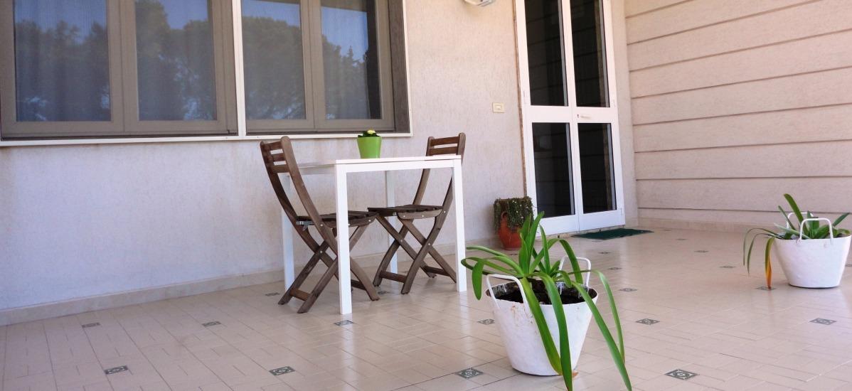 spazi esterni per il relax e la prima colazione